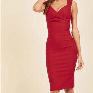 ModCloth Lady Love Song Dress in Red Medium